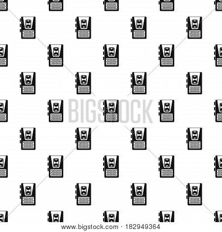 Dictaphone pattern seamless in simple style vector illustration