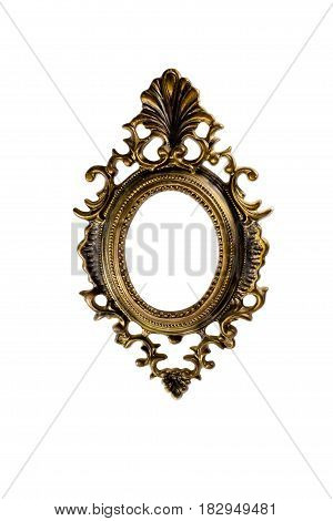 Gilded wooden frame for picture vintage, ancient