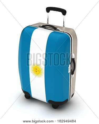 Travel to Argentina (isolated with clipping path) 3D Rendering
