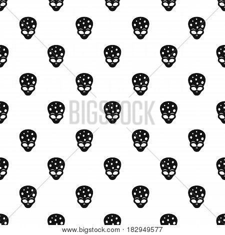 Extraterrestrial alien head pattern seamless in simple style vector illustration