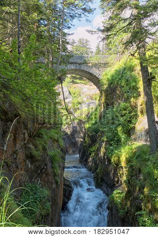 Under the bridge of Spain at Cauterets French Pyrenees