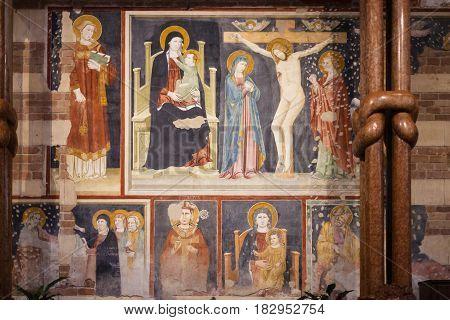 Wall-painting In Basilica Di San Zeno In Verona