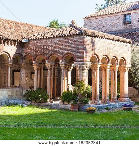 Cloister Of Basilica Di San Zeno In Verona City