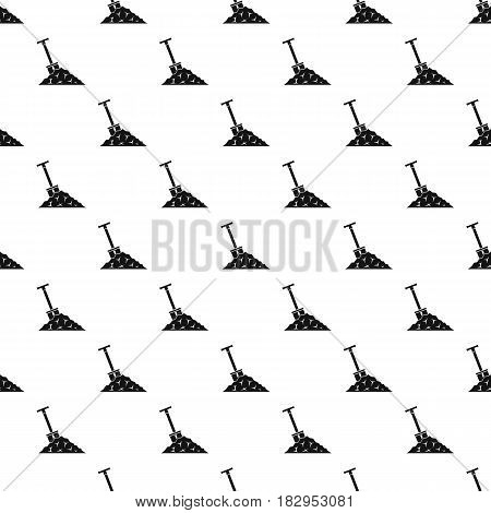 Shovel in coal pattern seamless in simple style vector illustration