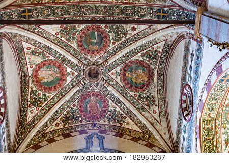 Ceiling In Chiesa Di Sant Anastasia In Verona City