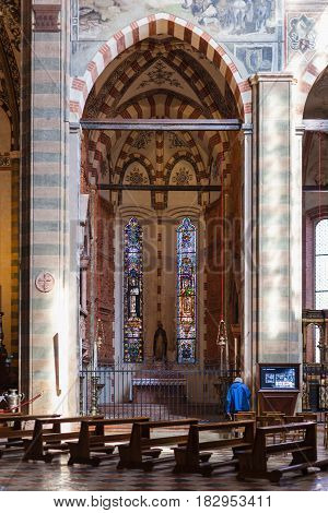 Nave And Chapel In Chiesa Di Sant Anastasia