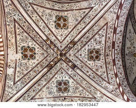 Ornamental Ceiling In Chiesa Di Sant Anastasia