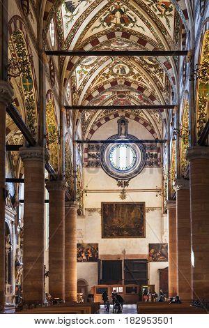Visitors Indoor Of Chiesa Di Sant Anastasia