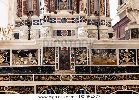 Central Altar In Chiesa Di Santa Corona In Vicenza