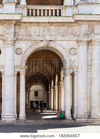 People In Loggia Of Basilica Palladiana