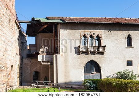 View Of Museum Bulding In Court Of Castelvecchio