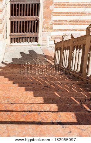 Steps In Palazzo Della Ragione In Verona City