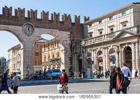 Corso Porta Nuova Street And Medieval Bra Gates