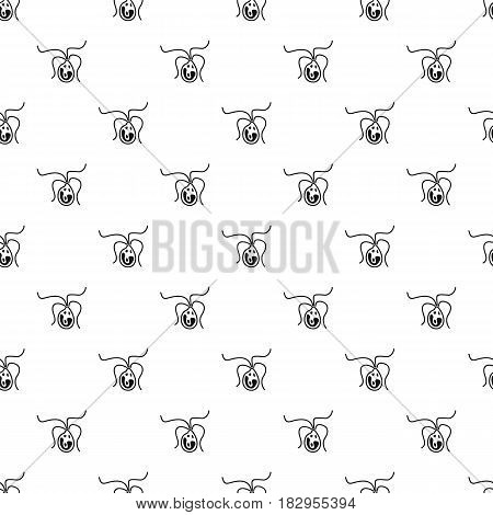 Bacterial cell pattern seamless in simple style vector illustration