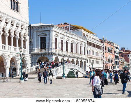 People On Promenade Riva Degli Schiavoni