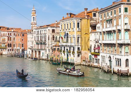 View Of Grand Canal In Venice City In Spring