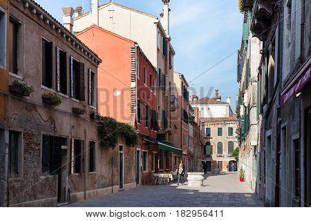Street In Santa Croce District In Venice