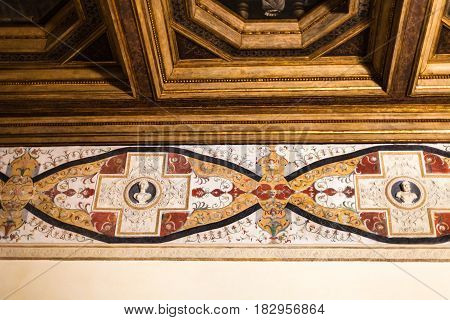Wall Ornaments In Palazzo Del Te In Mantua
