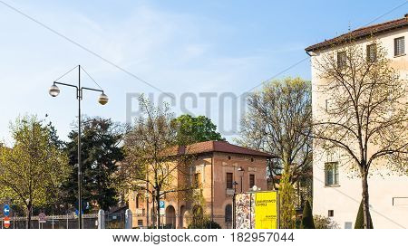 Residential District In Mantua City In Evening