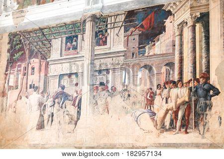 Wall Paintings In Church Of Eremitani In Padua