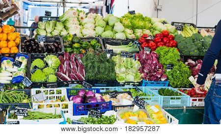 Fresh Italian Vegetables On Market