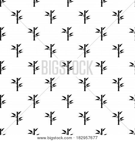 Bamboo pattern seamless in simple style vector illustration