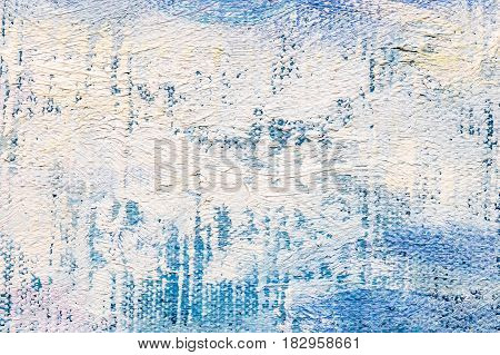 Expressive White Brush Strokes On Blue Background