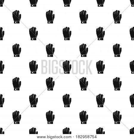 Hockey glove pattern seamless in simple style vector illustration