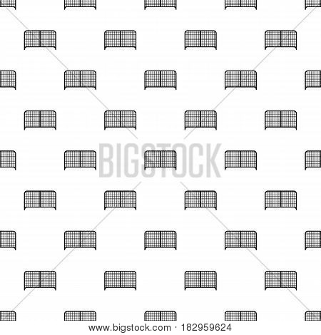 Gate pattern seamless in simple style vector illustration