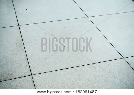 White Terrazzo floor with a line ready use.