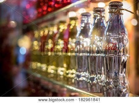 BANGKOK THAILAND - FEBUARY 17 2017: Coca cola or