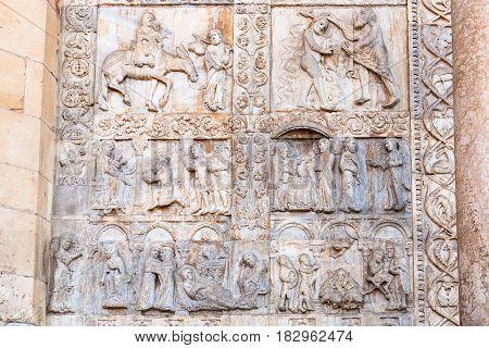 Bas-relief Of Portal Of Basilica Di San Zeno
