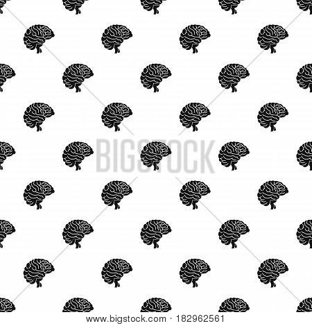 Brain pattern seamless in simple style vector illustration