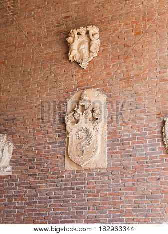 Outdoor Wall Decoration Of Palazzo In Vicenza
