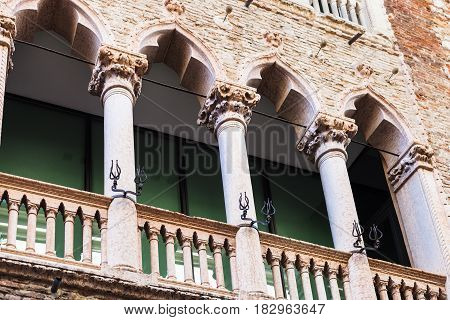 Decor Of Medieval Palazzo In Vicenza