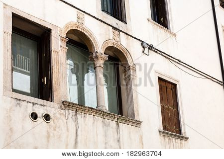 Wall Of Medieval Palazzo In Vicenza