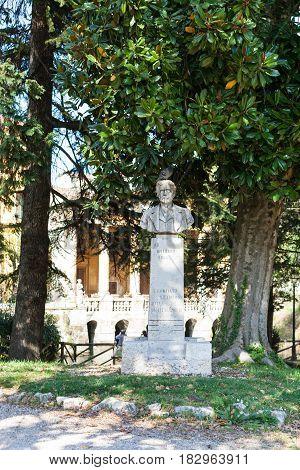 Bust In Urban Public Park Giardini Salvi