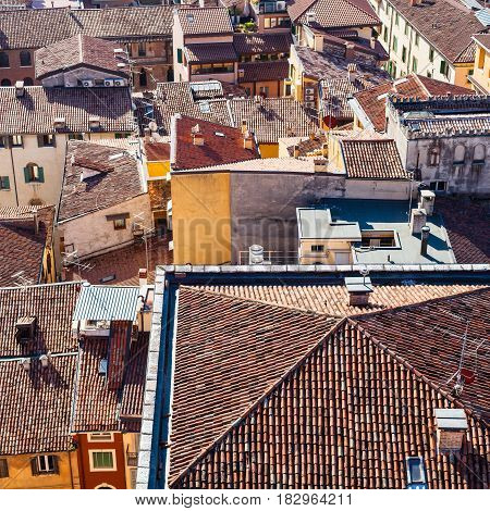 Above View Of Houses In Verona City