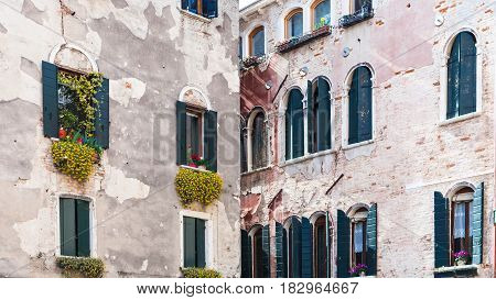 Facades Of Urban Houses On Campo San Aponal