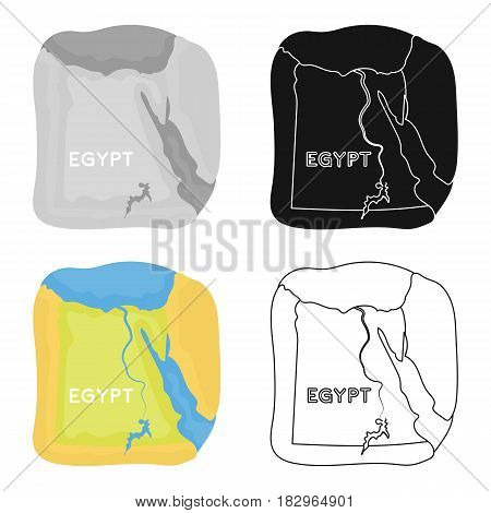 Territory of Egypt icon in cartoon style isolated on white background. Ancient Egypt symbol vector illustration.