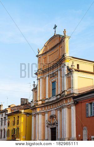 Chiesa Di Ognissanti In Mantua City In Spring