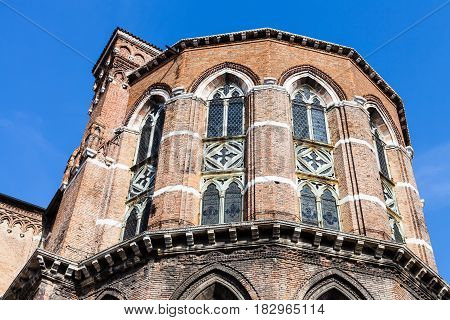 Apse Of Frari Church In Venice City