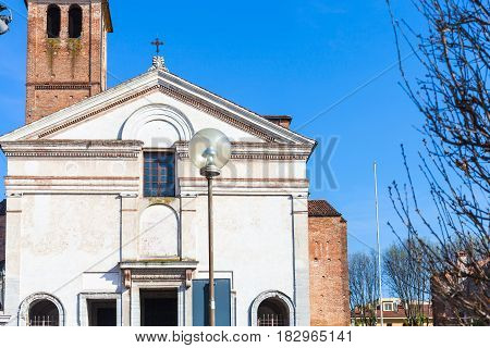 Front View Of Chiesa Di San Sebastiano In Mantua