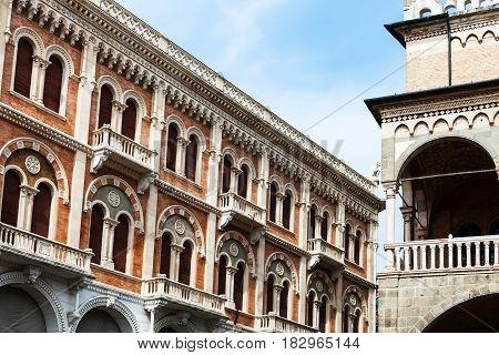 Palace And Palazzo Della Ragione In Padua City