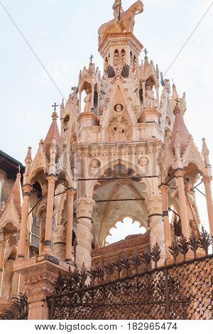 Medieval Tomb Of Cansignorio Della Scala In Verona