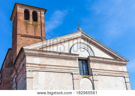 Chiesa Di San Sebastiano With Tower In Mantua