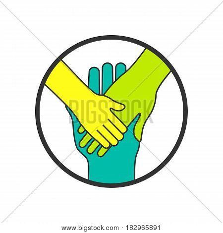 Hands. Symbol Of Family And Togetherness Concept