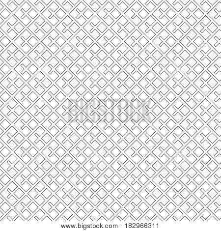 Art deco seamless pattern. Modern stylish geometric texture with regularly repeating corner thin lines rhombuses diamonds. Vector element of graphic design