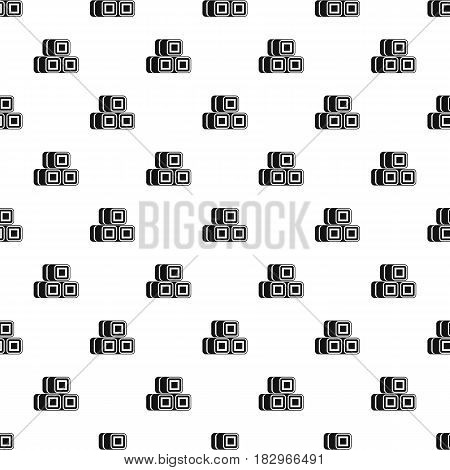 Hay bundles pattern seamless in simple style vector illustration