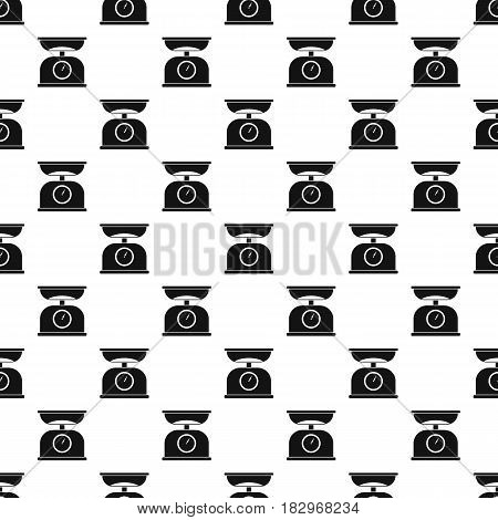 Kitchen scales pattern seamless in simple style vector illustration